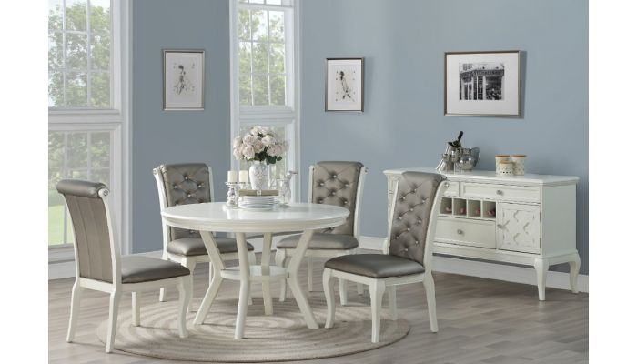 white round dining table sets
