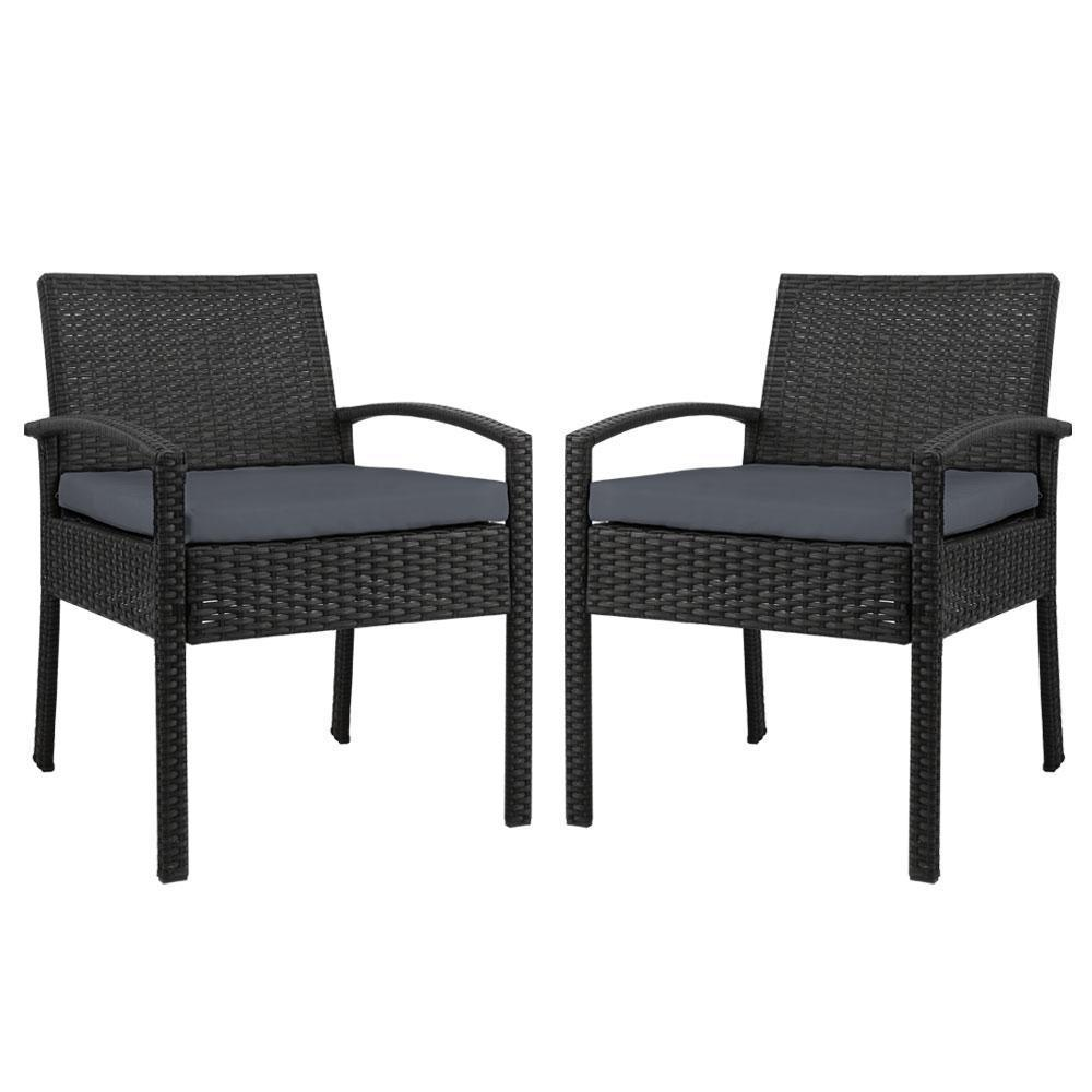 black outdoor dining chairs