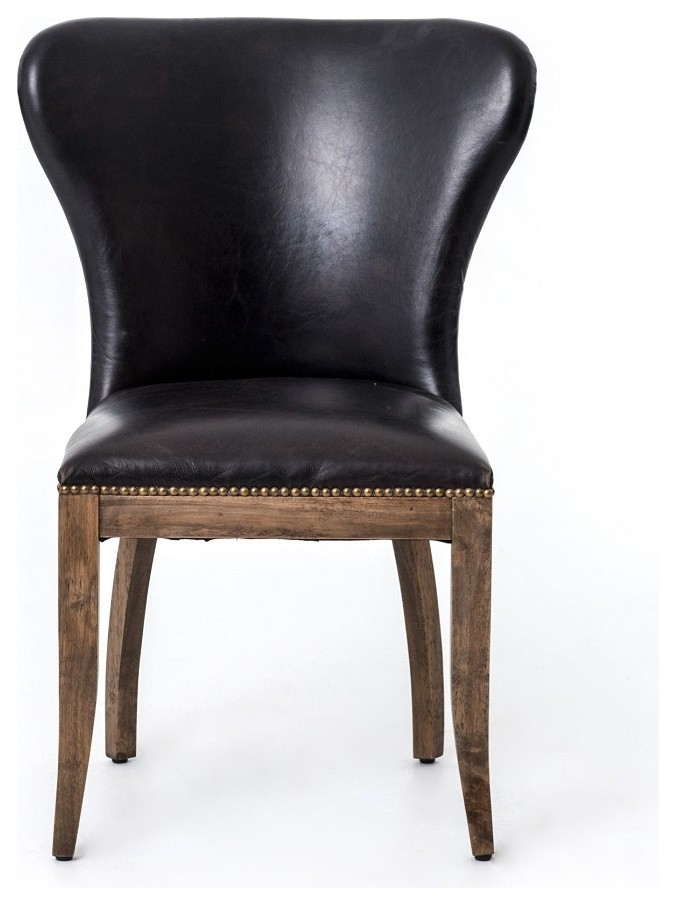 leather wingback dining chair