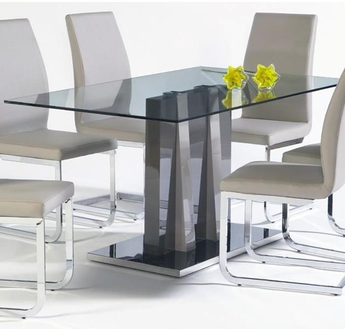 rectangle glass top dining table sets