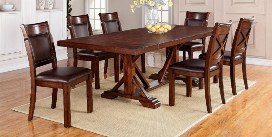 brown dining room table