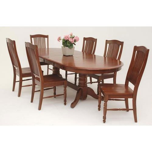 6 wooden dining room chairs