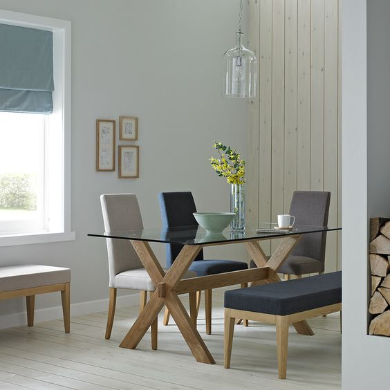glass tables dining room
