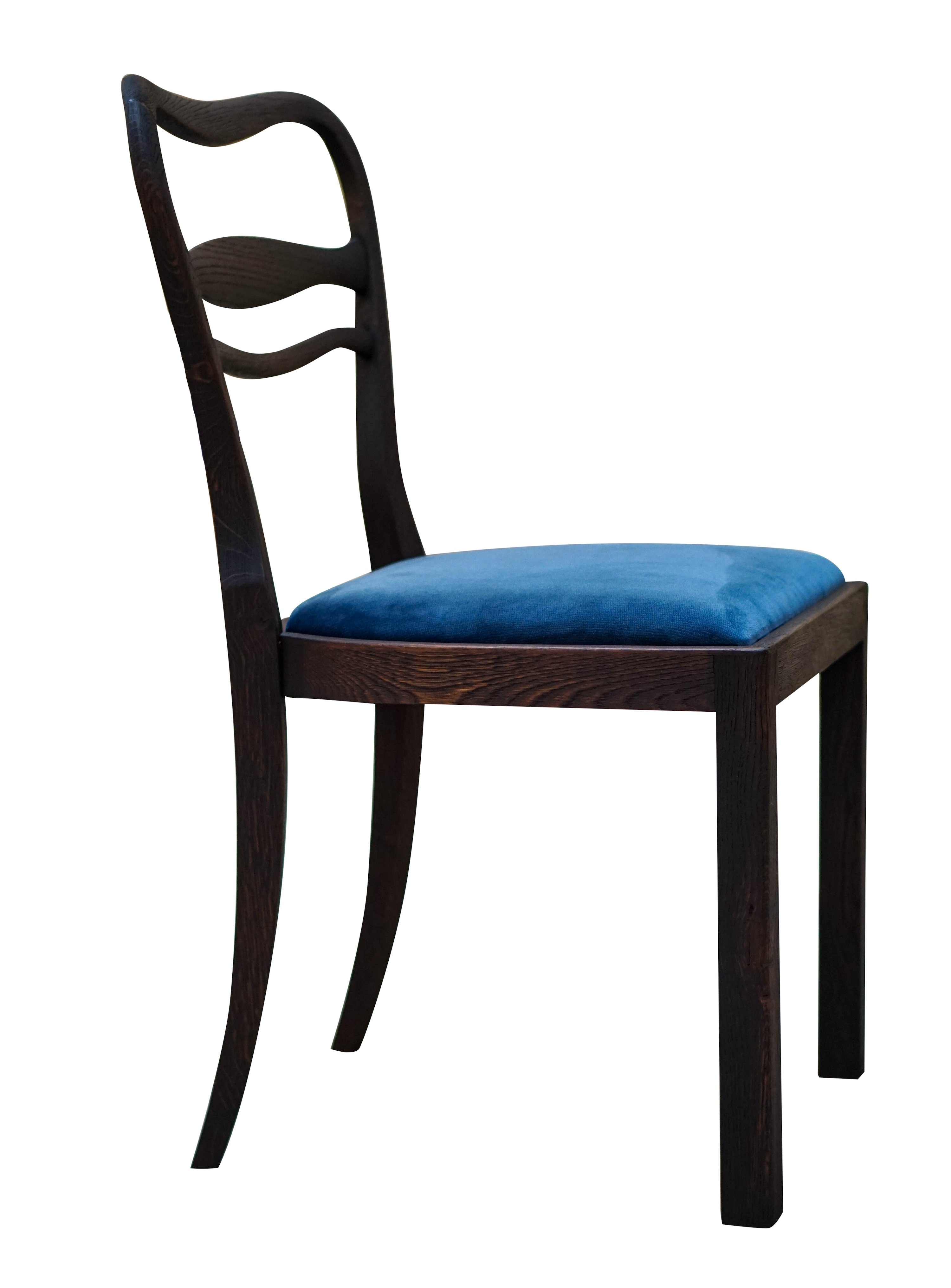 4 X Art Deco Dining Chair 1930s 122041