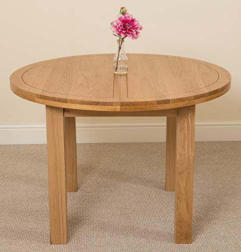 extendable small oak dining table