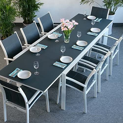 large oval dining table seats 8