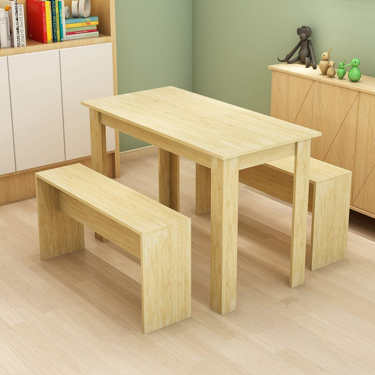 small bench dining table set