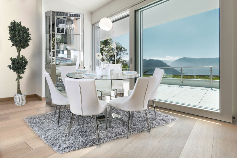 round glass top dining table for 4