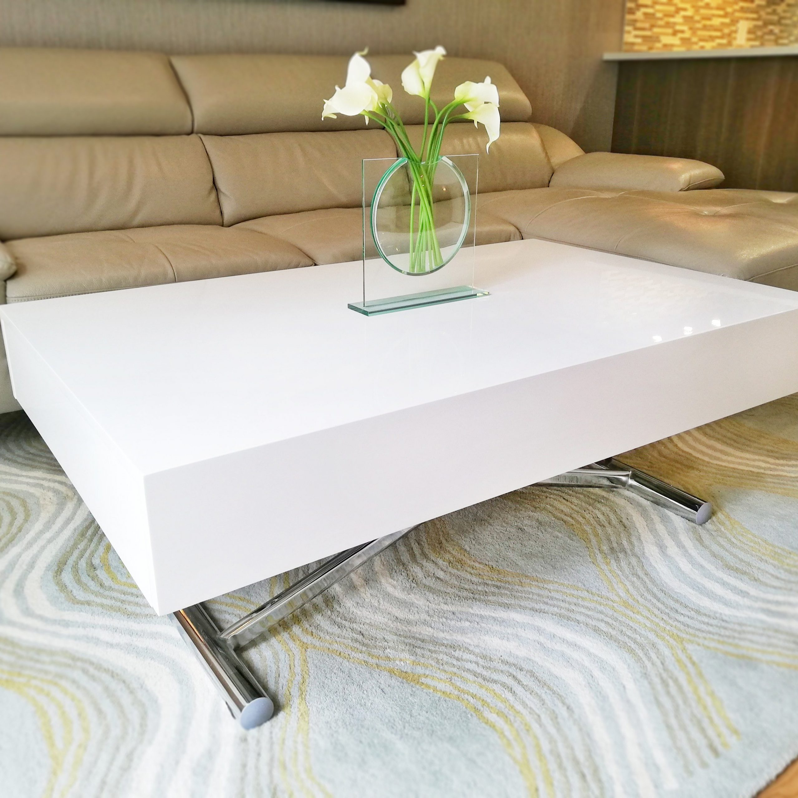 coffee/dining table conversion