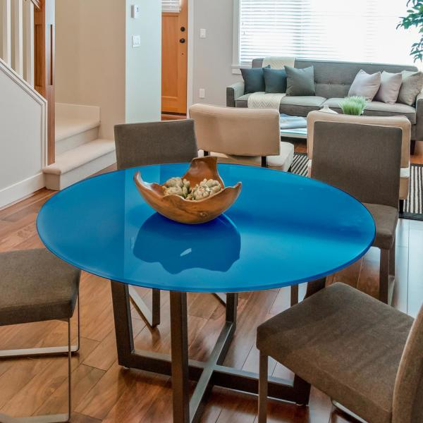 36 inch round glass dining table