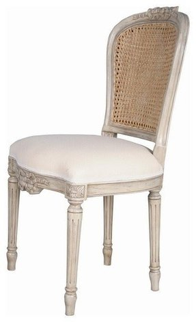 white cane back dining chairs