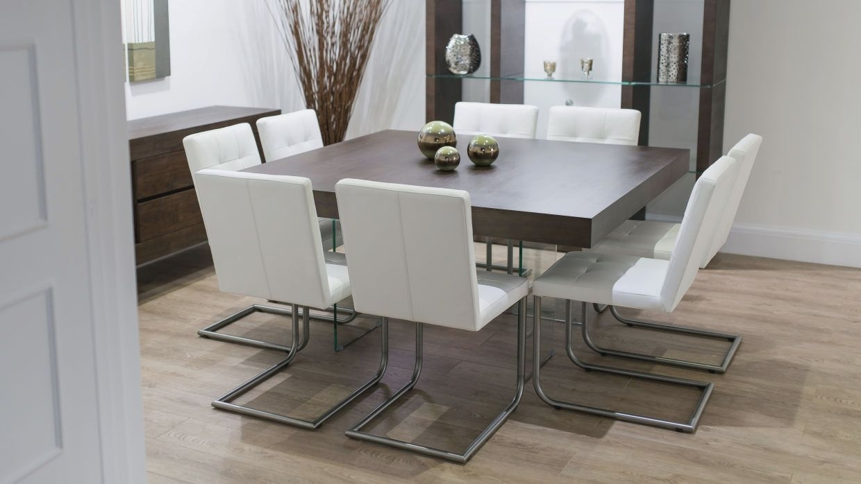 dining room tables square 8 chairs