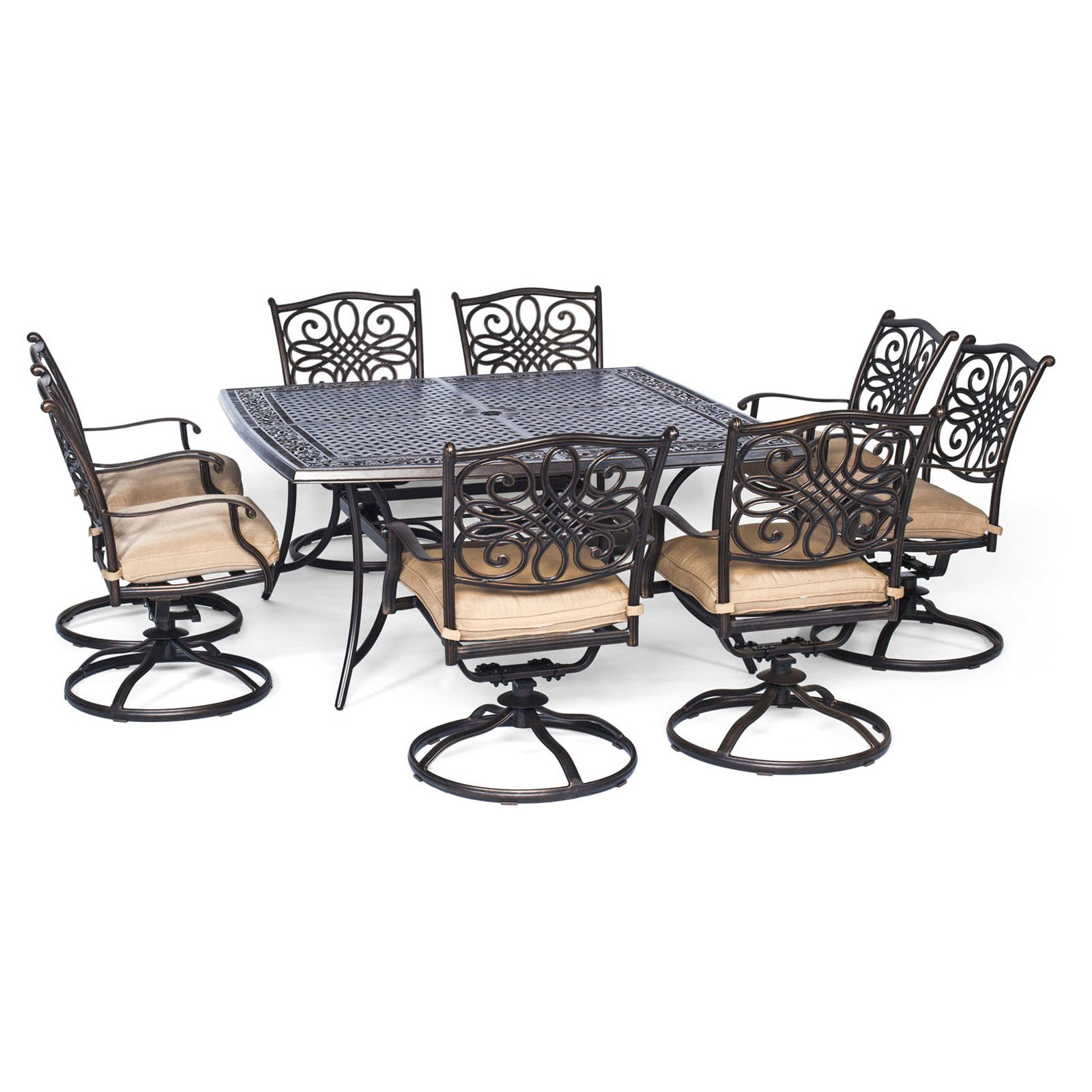 square patio dining table for 8