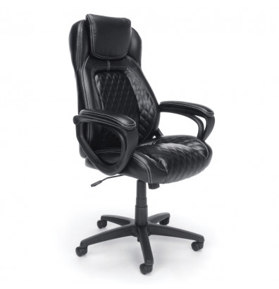 essentials by ofm ergonomic leather executive office chair with arms