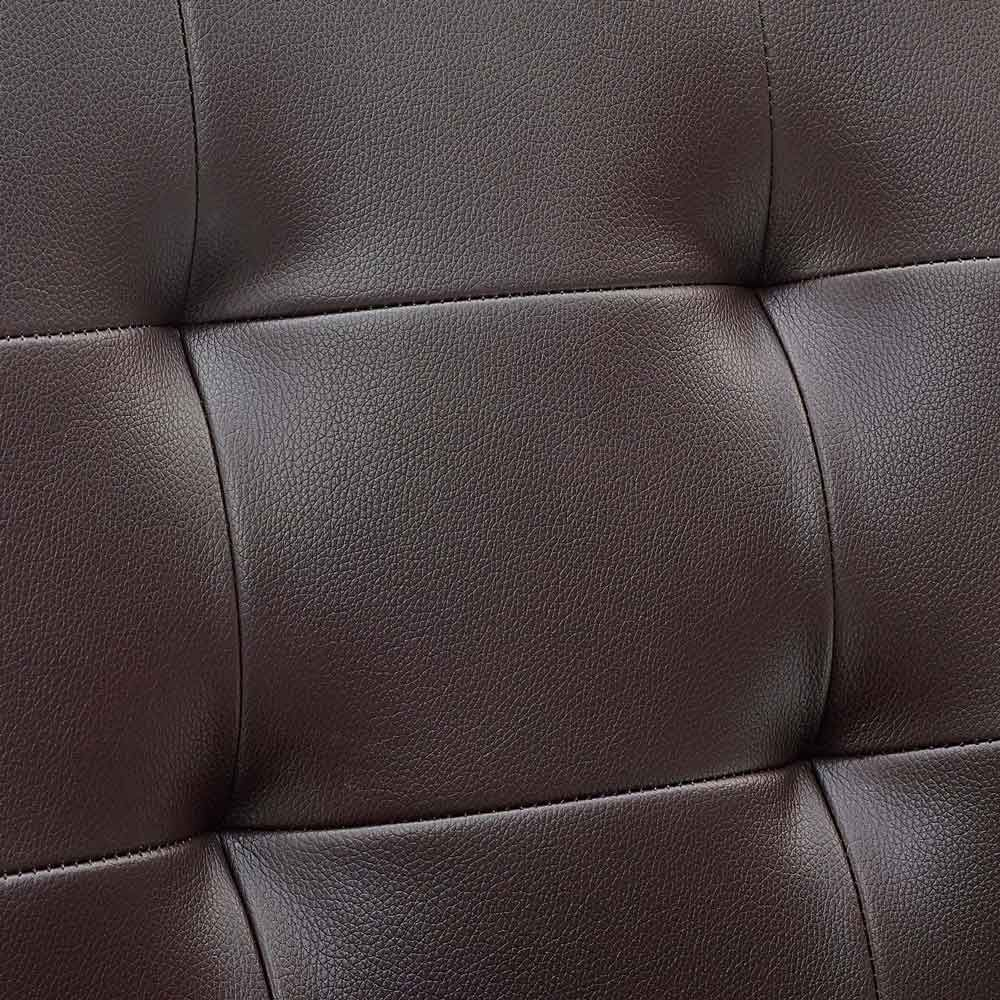 leather armless office chair