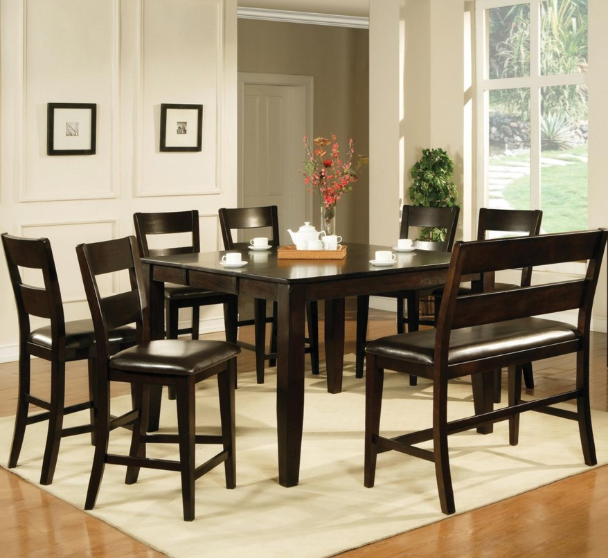 8 chair counter height dining set