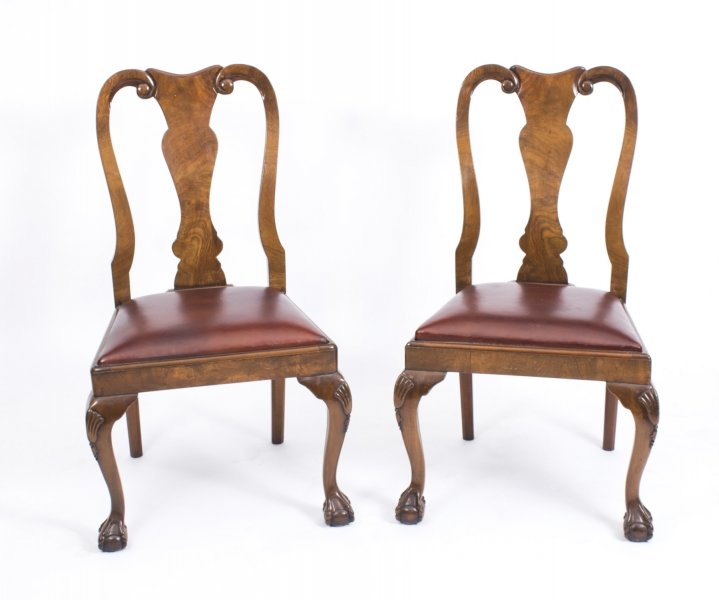 antique queen anne dining chairs