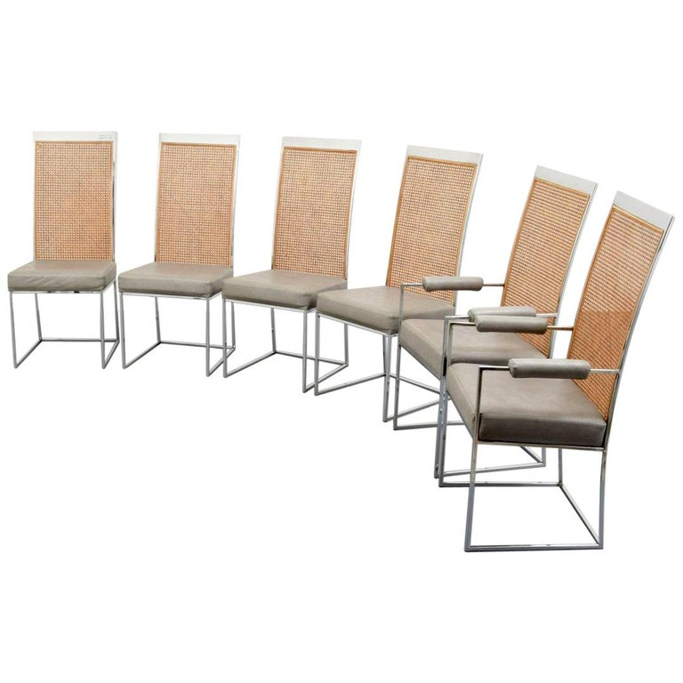 milo baughman dining chairs for sale