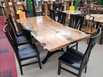rustic pub style dining table