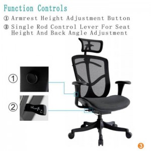 office chair controls