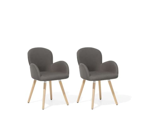 taupe fabric dining chairs