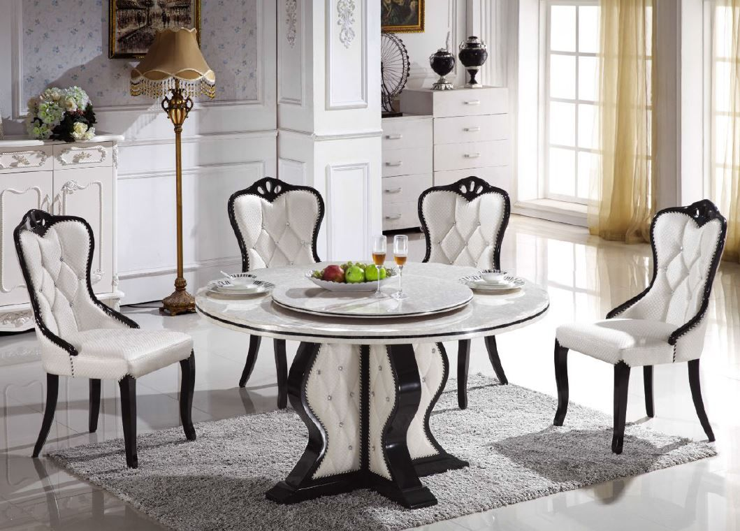 60 inch round marble dining table