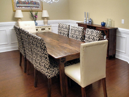 how to upholster a dining room chair