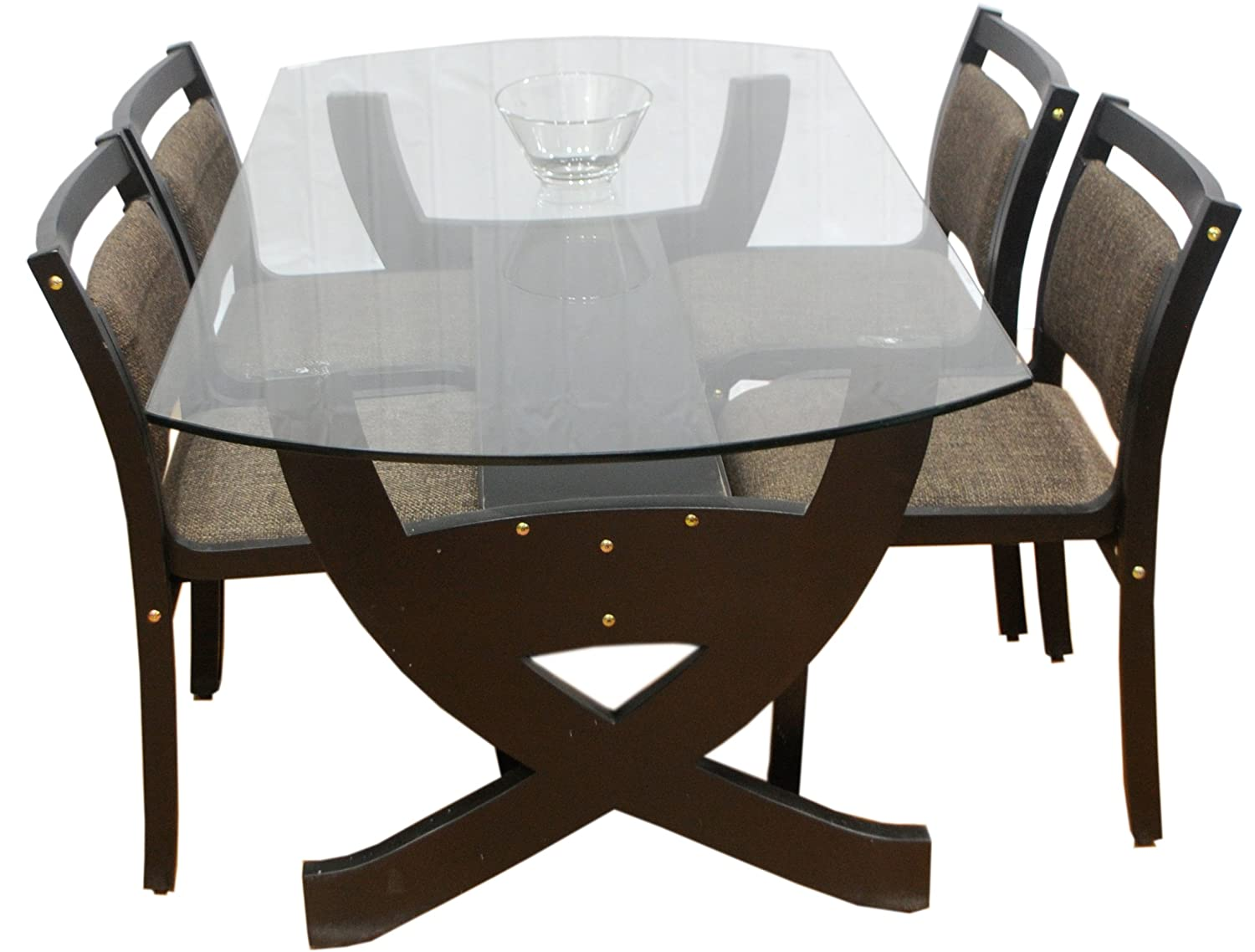 glass top dining table set 4 chairs