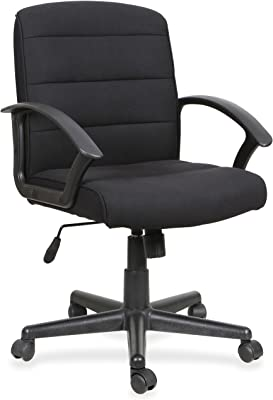 stratford black faux leather padded office chair