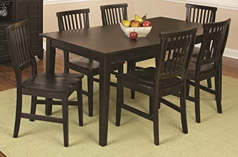 arts and crafts dining table and chairs