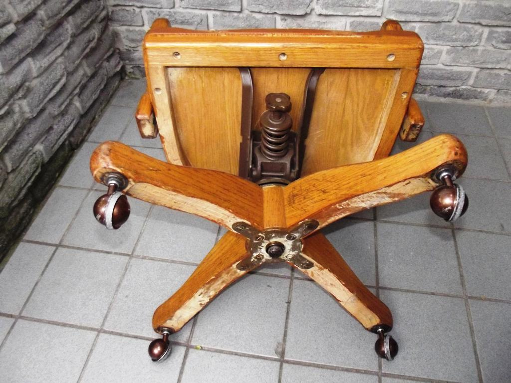 antique wooden office chairs with casters