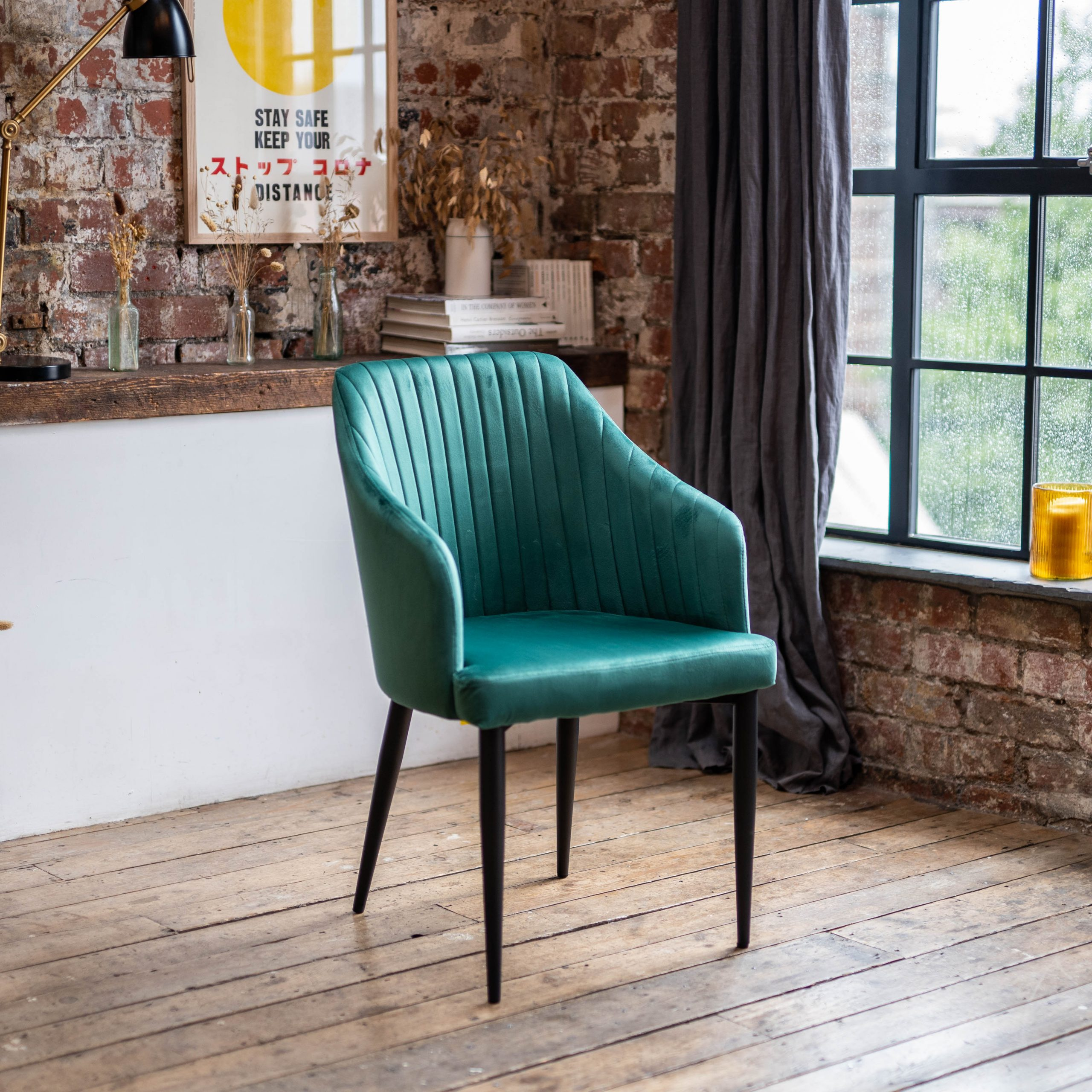 emerald green dining chairs