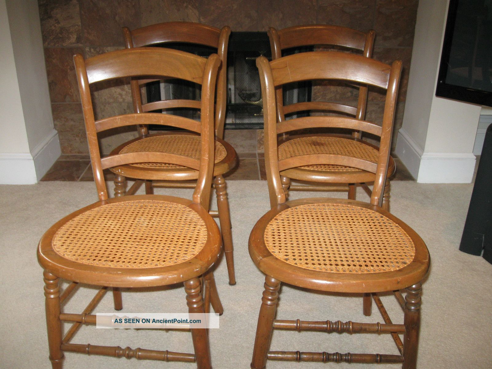 cane bottom dining chairs