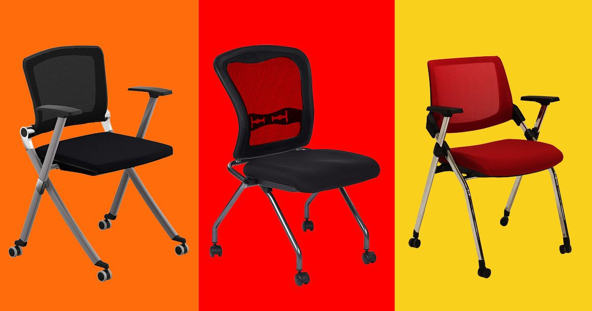 office chair with folding back
