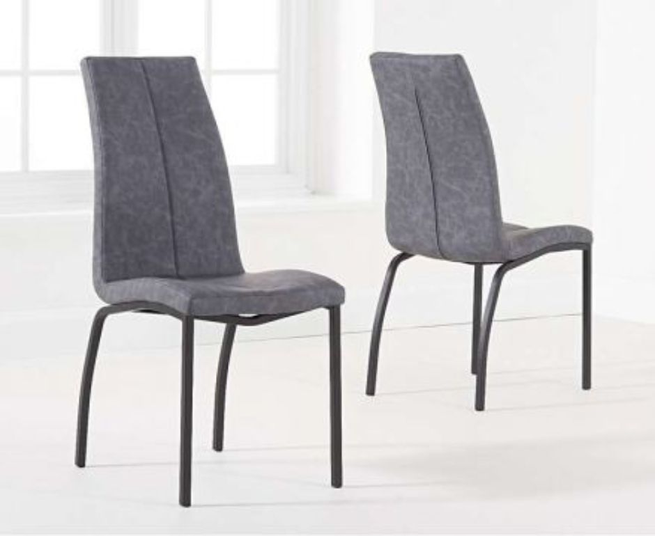 fabric dining chairs with black legs