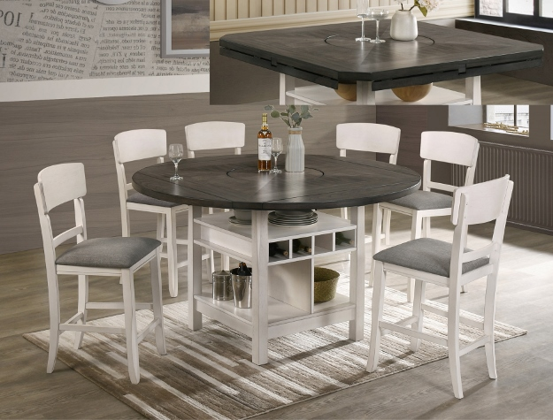7 piece high top dining table