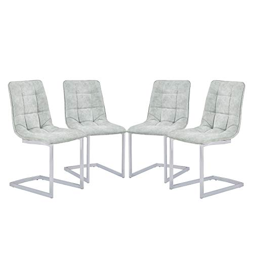 grey suede dining chairs