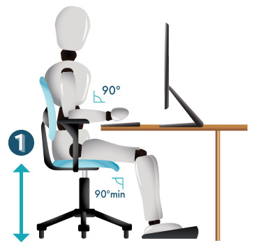 how to adjust an office chair for ergonomics