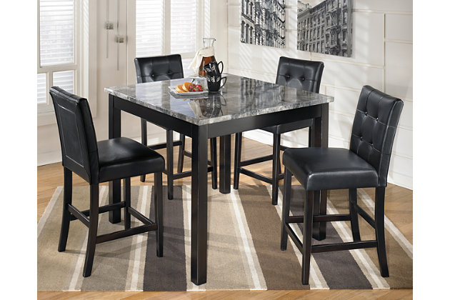 ashley furniture marble dining table