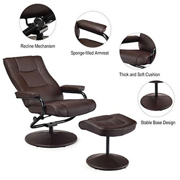 comfortable reclining office chair
