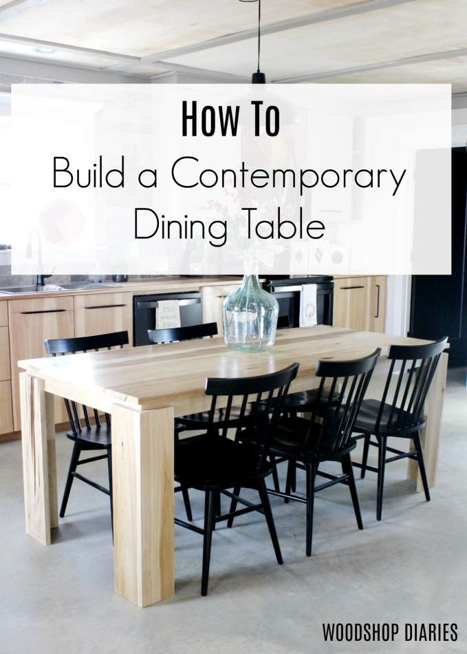 simple modern dining table design
