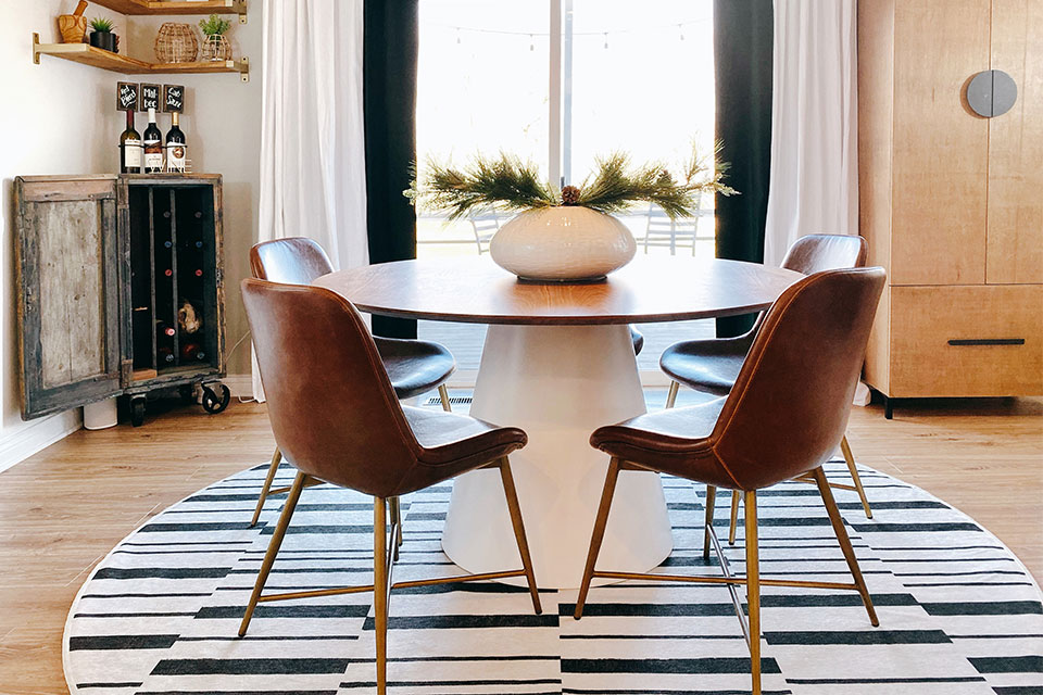 round or square dining table