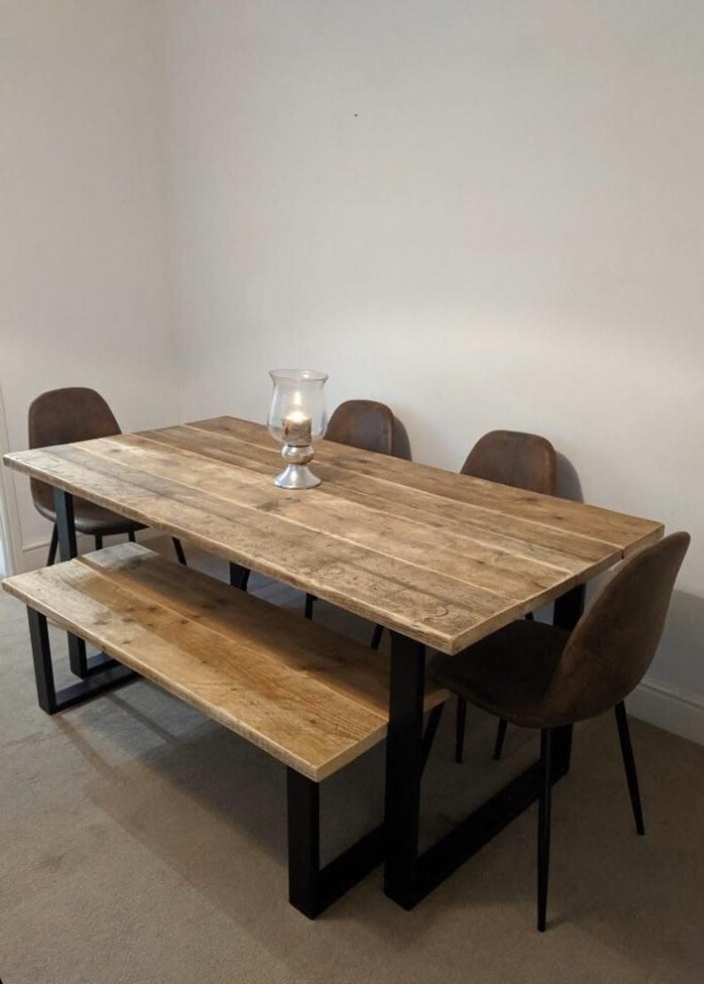 rustic reclaimed dining table