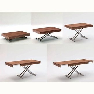 coffee table transforms to dining table