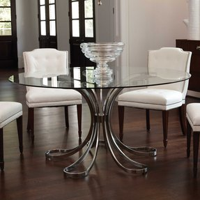 48 inch round glass dining table