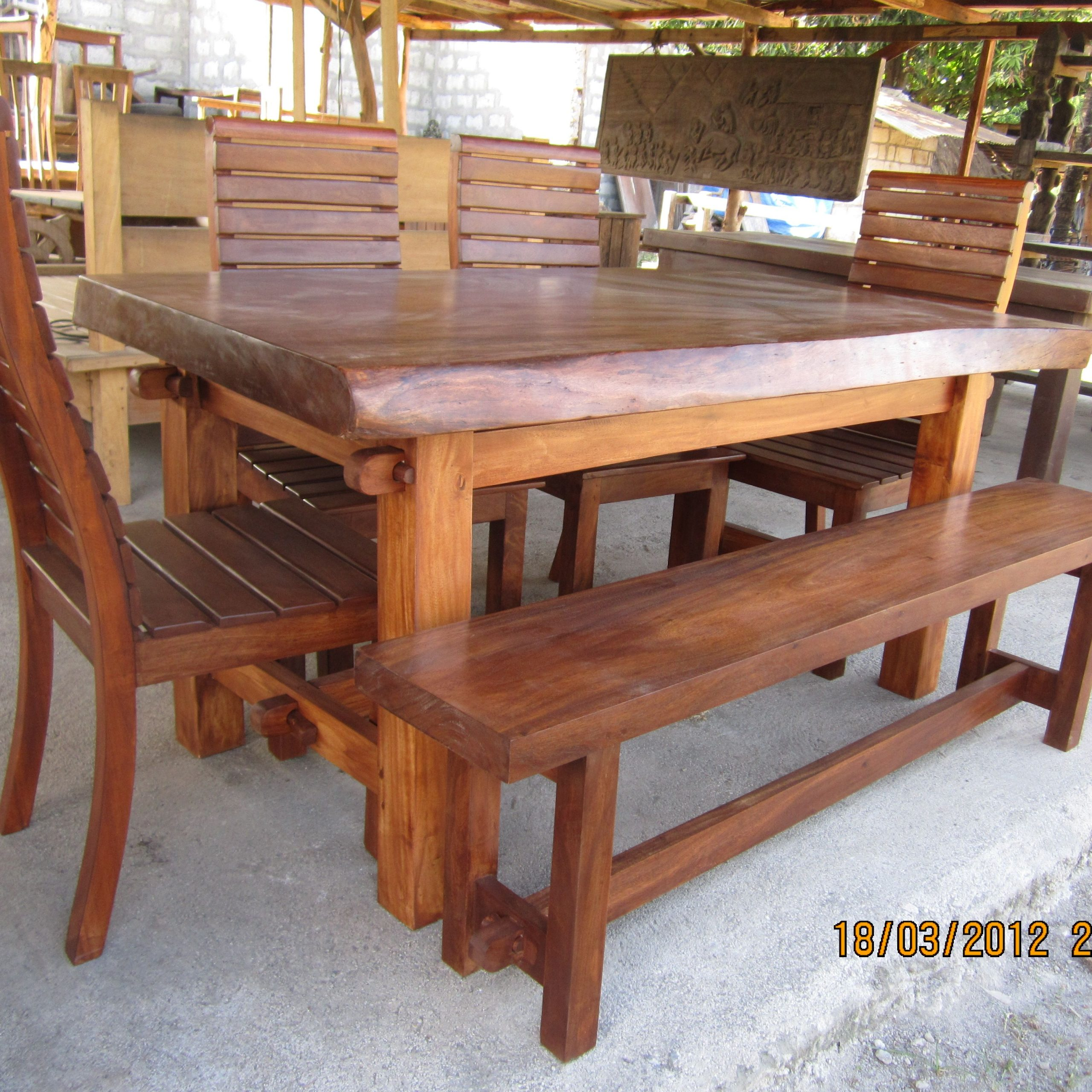 pictures of wooden dining tables and chairs
