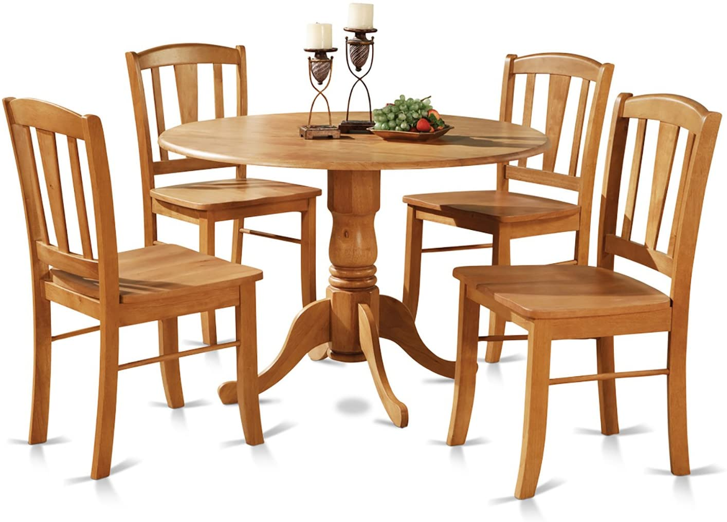 round dining room table with chairs