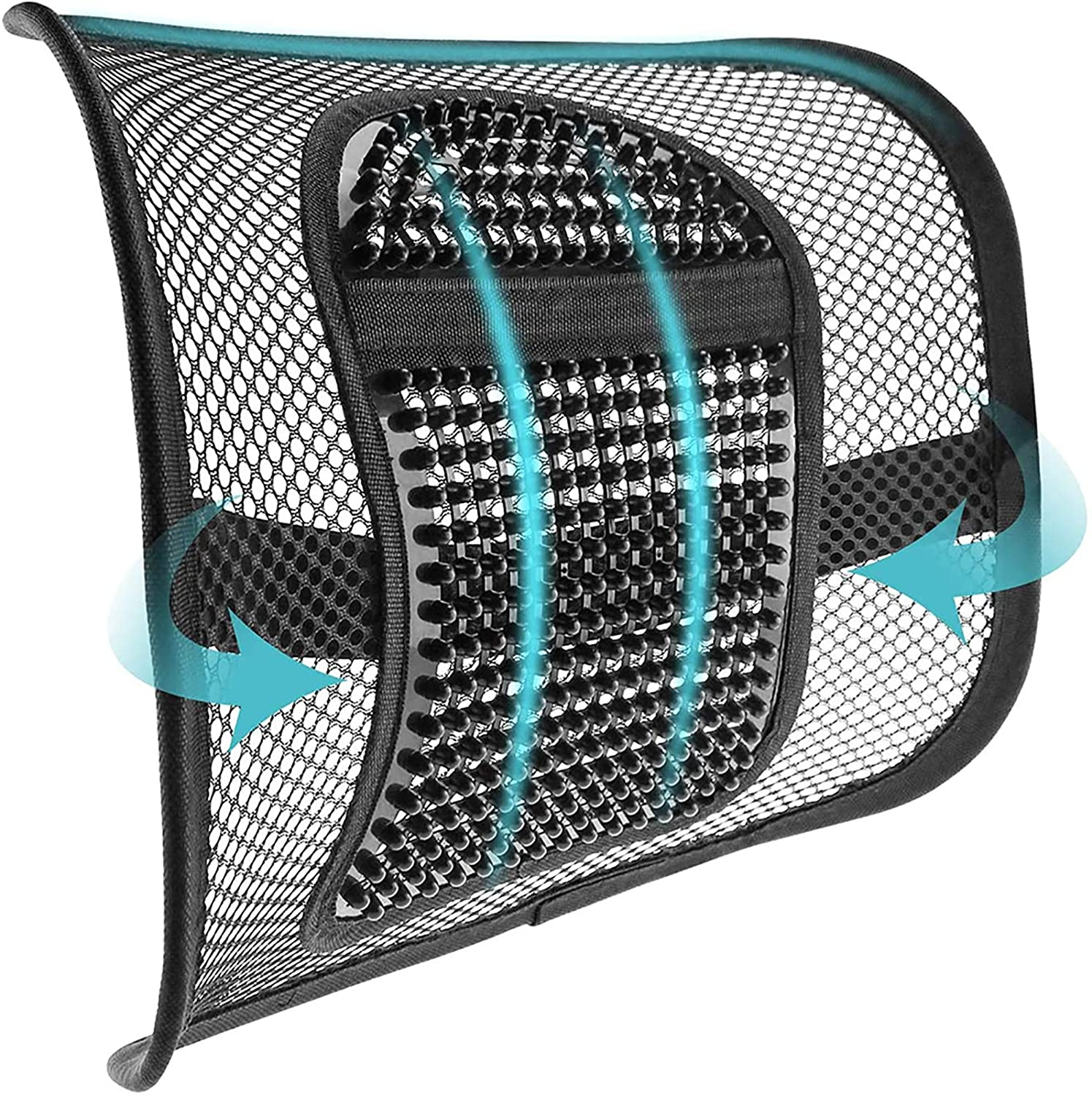 mesh lumbar back support for office chair