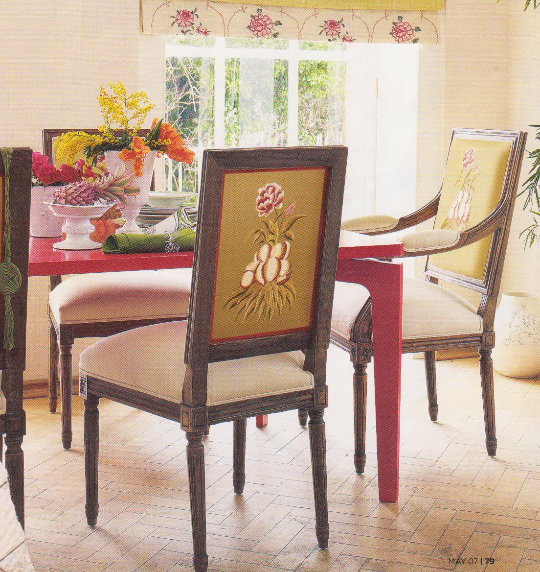 patterned fabric dining room chairs