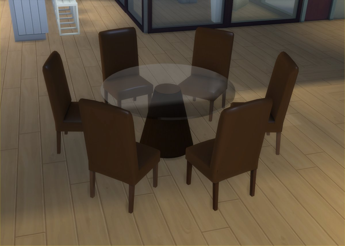 contemporary round dining table set for 6